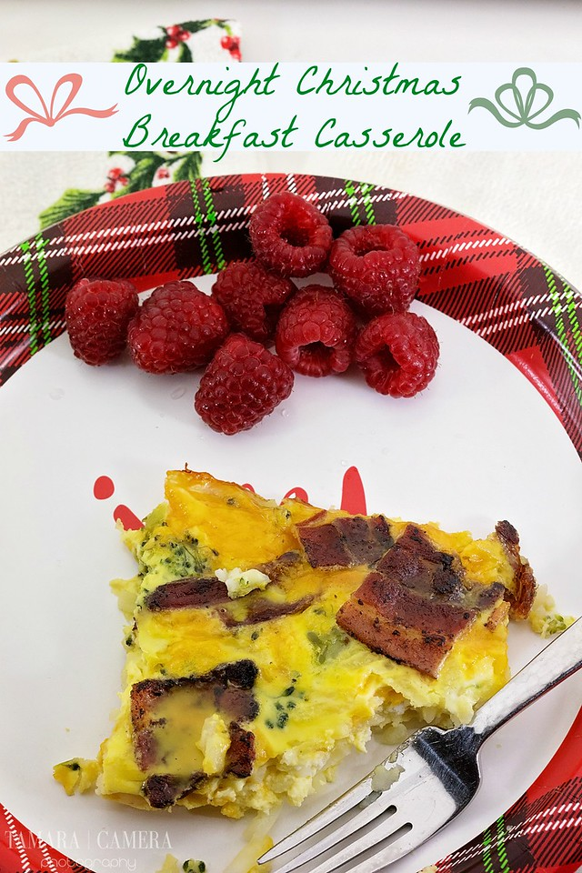 This Christmas Breakfast Casserole can be made the night before, and then popped in the oven, for bacon, cheesy, potato, goodness! #ad #MakeHeartburnHistory