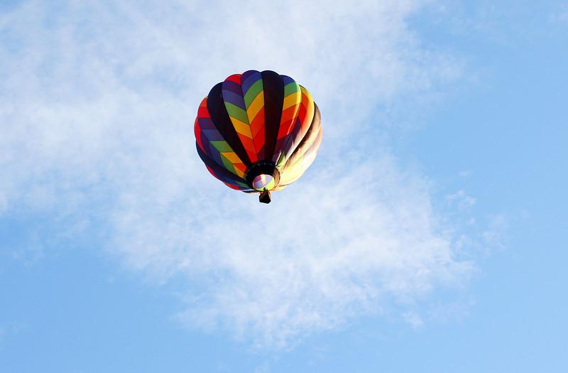 big balloon at dusk