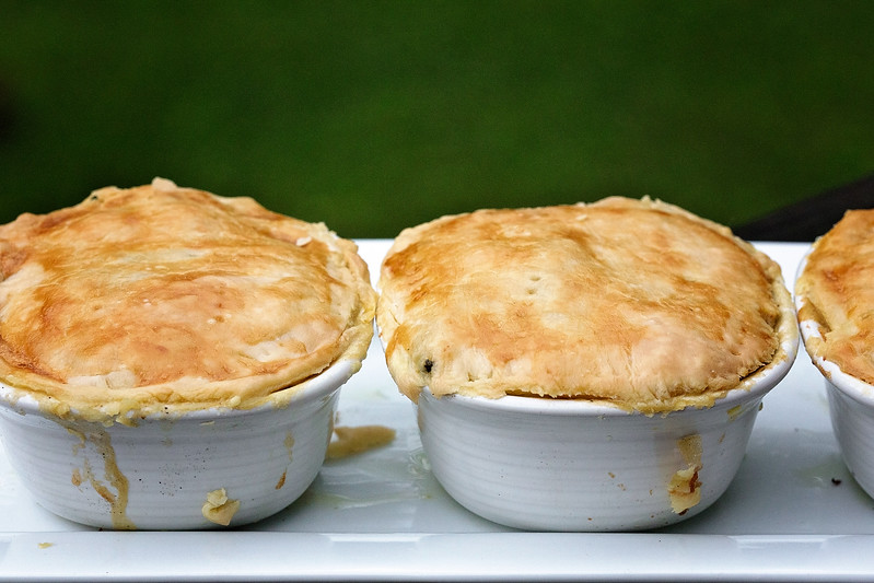 Individual Chicken Noodle Pot Pies