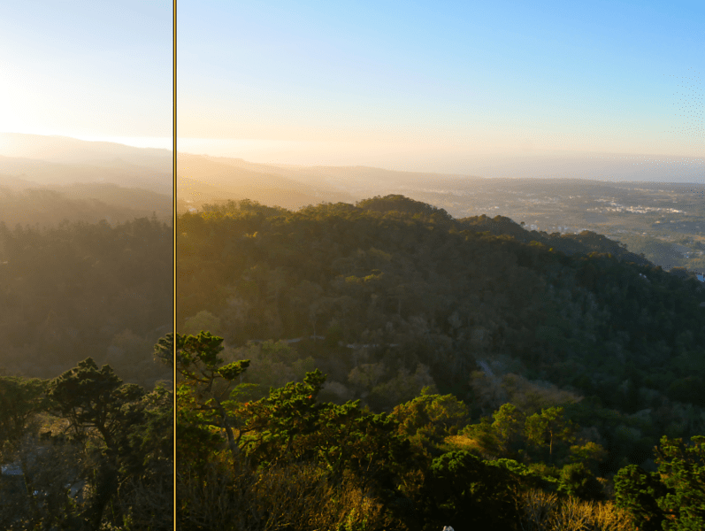 Editing Your Images - before and after