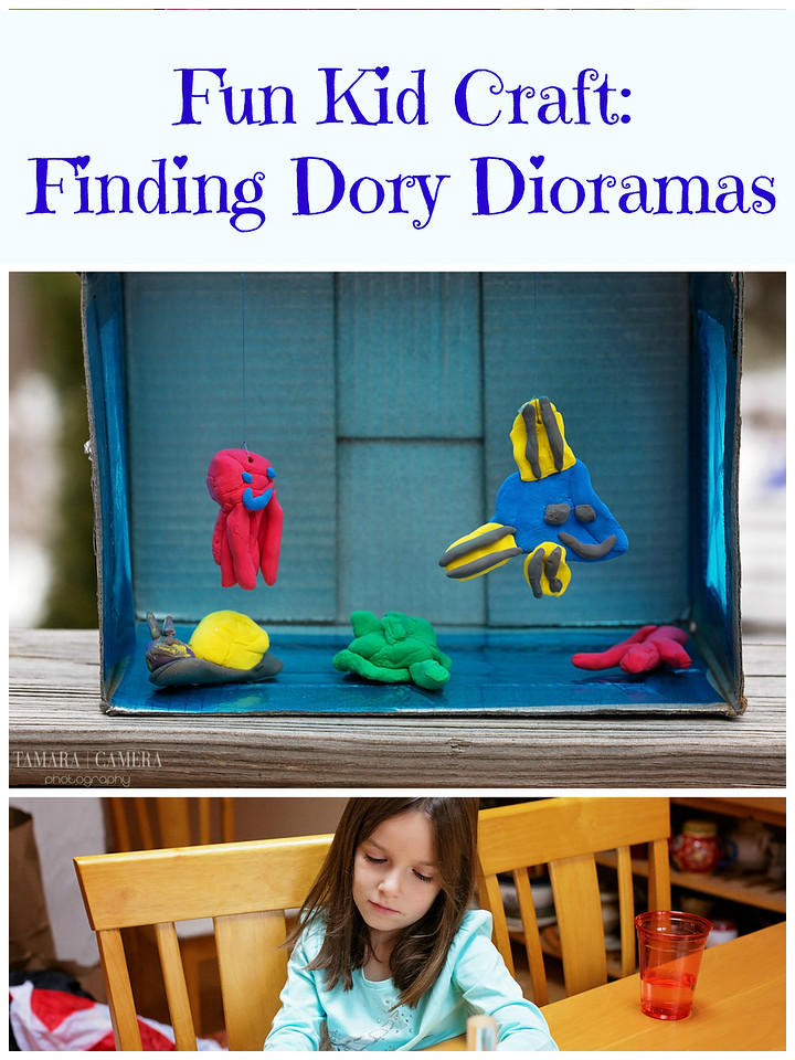 Kids everywhere will LOVE this #FindingDory under the sea craft - making interactive dioramas they can play with and display. #FamilyMovieWithKleenex #ad