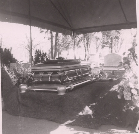 Great-grandfather's funeral, at the cemetery, 1952