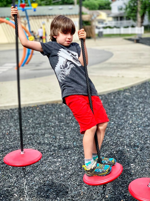 Landscape Structures inclusive playgrounds help children with confidence and self-mastery. Find a location near you! #ShapedByPlay #PlayToGrow #ad @PlayLSI