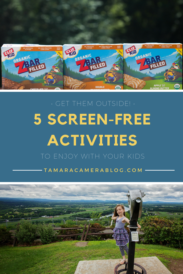 Get them outside! Here are 5 active, screen-free activities to enjoy with your kids during the summer and fall. Don't forget snacks! #ad #CLIFKidSummerPlay
