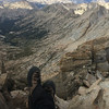 Dangling feet over Slide Canyon. I am happy.