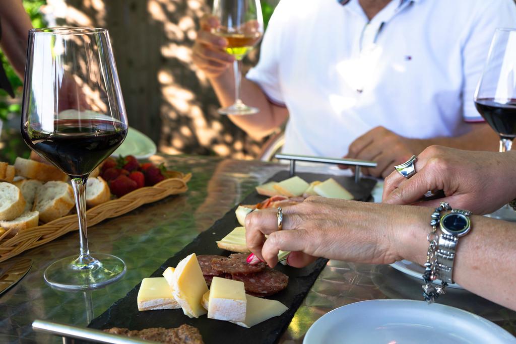 Charcuterie and Cheese board at Vignoble Isle de Bacchus