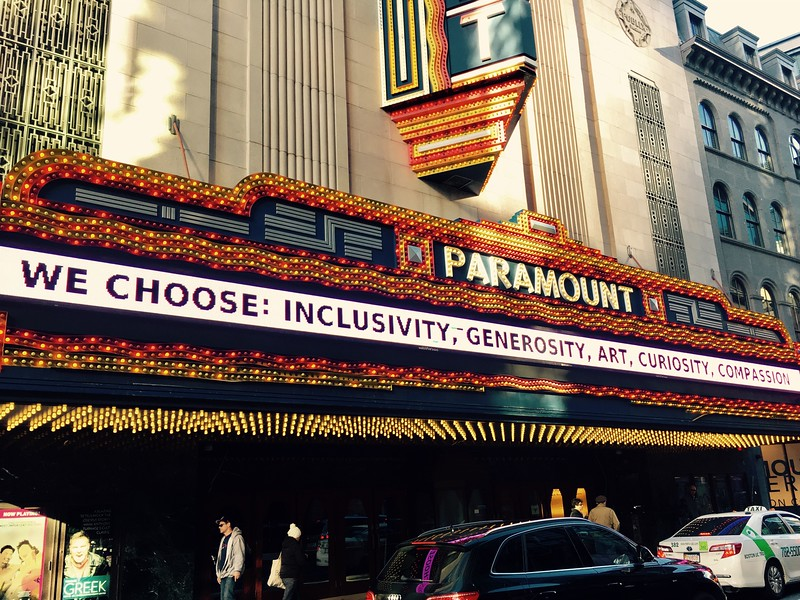 Paramount theater marquee sign