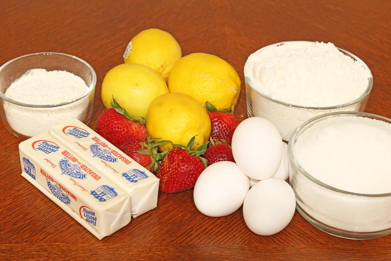 Strawberry Lemonade Bars Ingredients