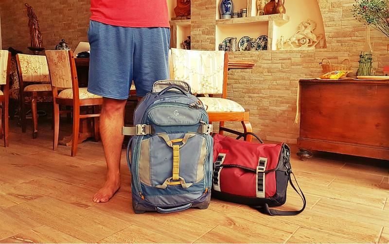 Full-time traveler - all packed up