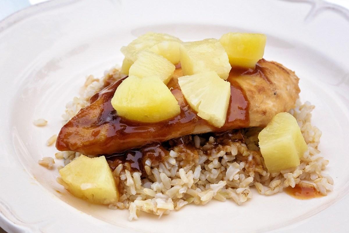 Pineapple Chicken Teriyaki Over Rice