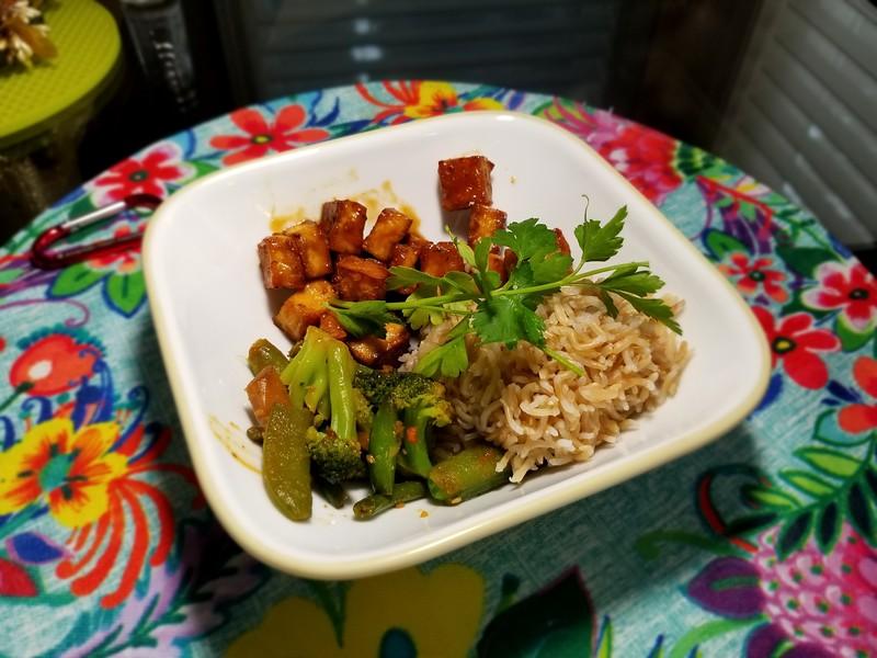 Vegan Orange Tofu Buddha Bowl