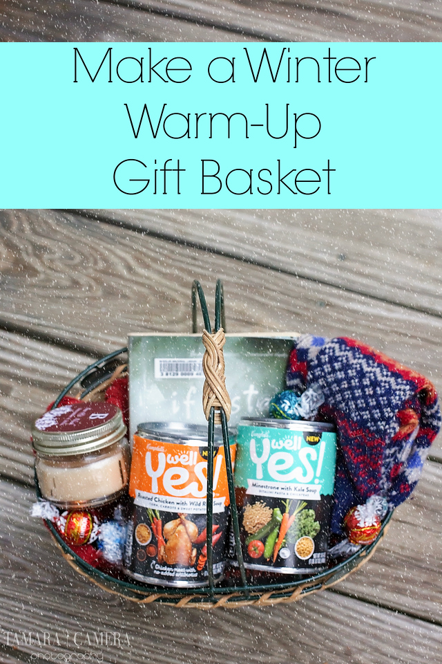 Do you like to make gift baskets? Make Campbell's Well Yes!™ Soup the star of this warm and cozy gift basket to make someone's day. #DIY #WellYesMoment #ad
