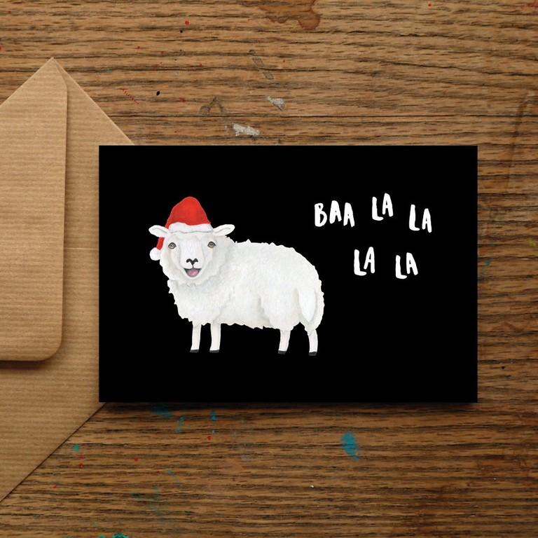 nicola allen art festive sheep 2019