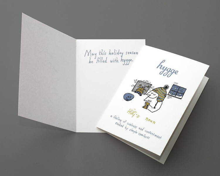 hand drawn holiday cards hygge lexigraphique