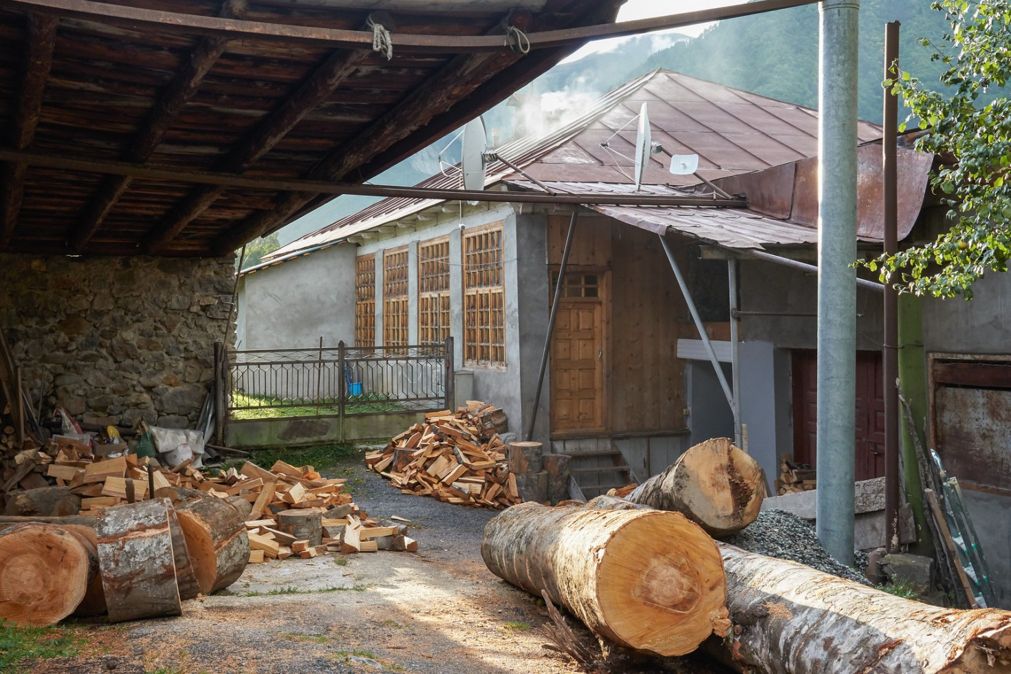 Enough wood to survive a Svaneti winter
