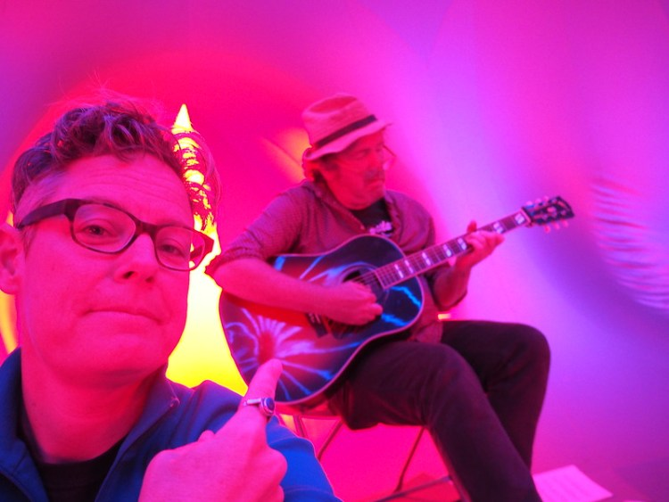 Look who's playing in the Luminarium.