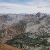 Labeled peaks from the Summit of Bloody. View to the S