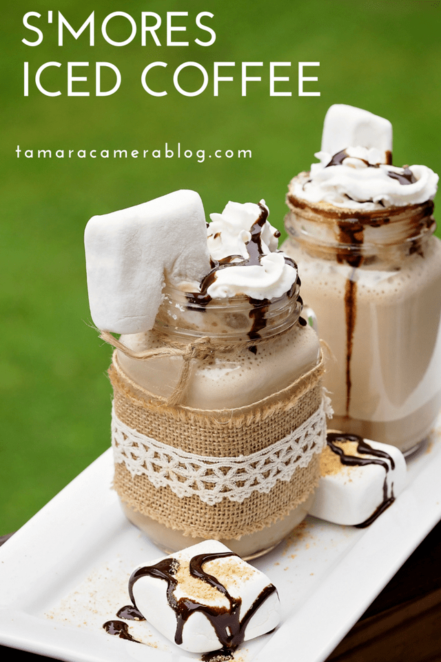 Looking for a cold and delicious summertime drink? My S'mores Iced Coffee recipe used International Delight Iced Coffee and some treats. #ad #FoundMyDelight
