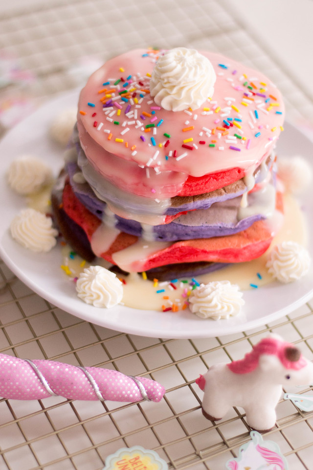Delicious, colorful, and full of magic. Is there anything these Unicorn Pancakes can't make more magical? Use them for slumber parties, birthdays, and more!
