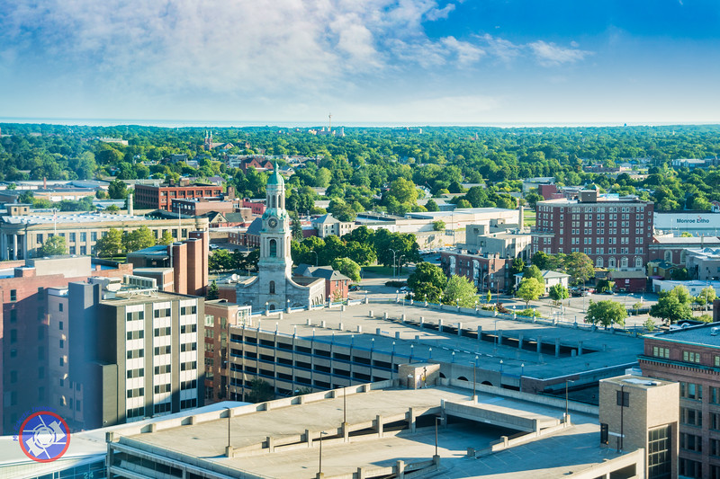 Looking North from the 25th Floor of the Hyatt Regency Rochester (©simon@myeclecticimages.com)