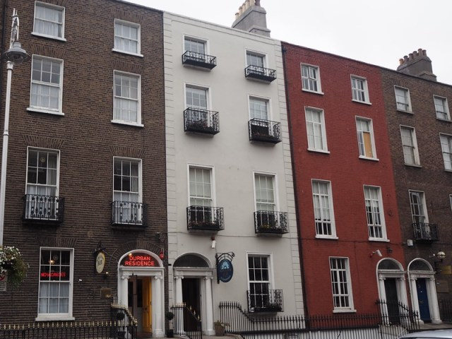 Georgian, perhaps, row housed in Dublin - two are now accommodation.