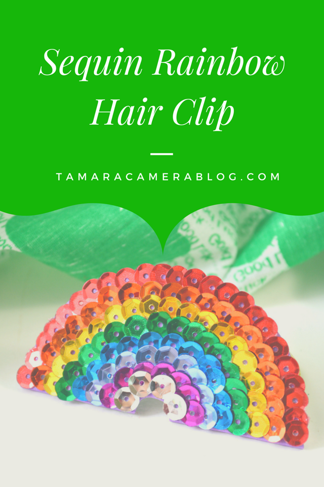 This Sequin Rainbow Hair Clip is the CUTEST! And it's easy to make. Surprise someone in your life for St. Patrick's Day or Pride Month, or make one together.