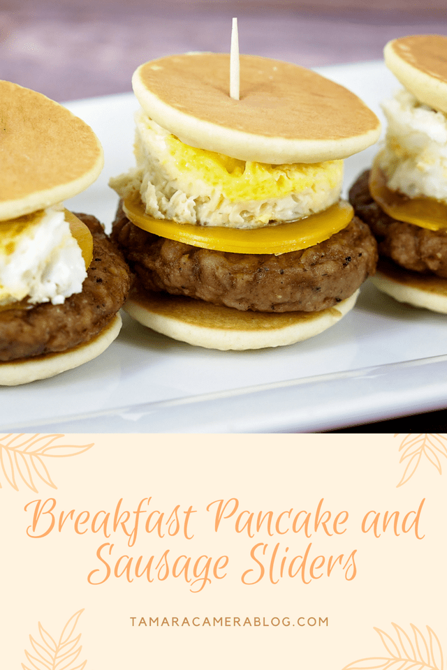 With maple syrup or not, these breakfast pancake and sausage sliders are a MUST for your holiday brunch entertaining this year. Enjoy! #ad #JimmyDeanSausage