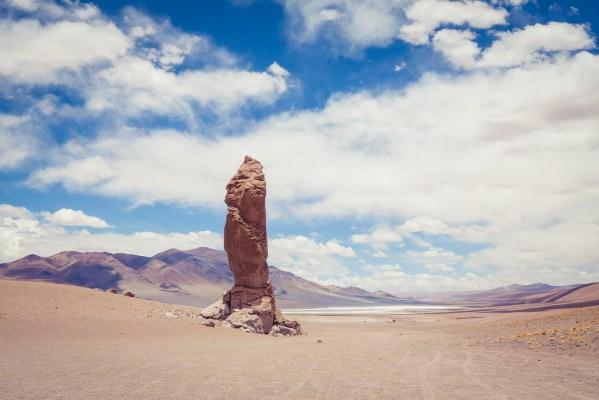 Relaxing at Monjes de la Pacana - Atacama Desert, Chile - | www.eatworktravel.com