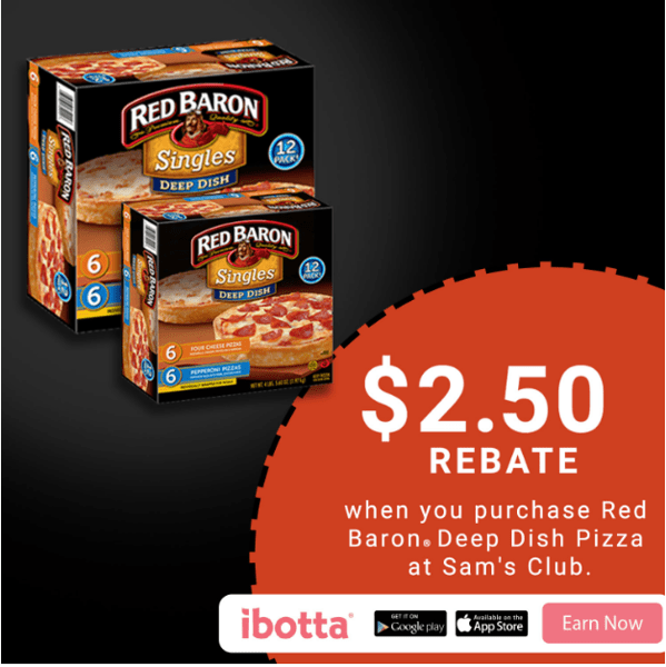 Craving a delicious, deep dish fix for dinner? Looking to save you and your family time and money during this busy holiday season? Pick up Red Baron® Deep Dish Single Serve Pizza from your local Sam's Club! Don't miss this great Ibotta offer! When you buy Red Baron® Deep Dish Pizzas at Sam's Club, you will earn $2.50! *Offer available through 12/31/17. #ad #RedBaronHolidaySavings