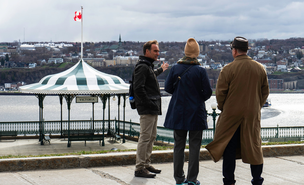 Steeve Gaudreault giving a private tour of Old Quebec City