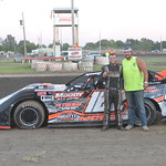 Logan Moody won the Pro Late Model makeup race from July 31 for his first win of the year