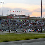 Parade lap for Silver Crown race