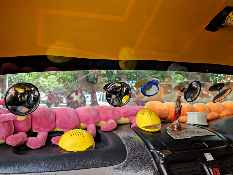 Travel Guide to Dili - taxi windshield