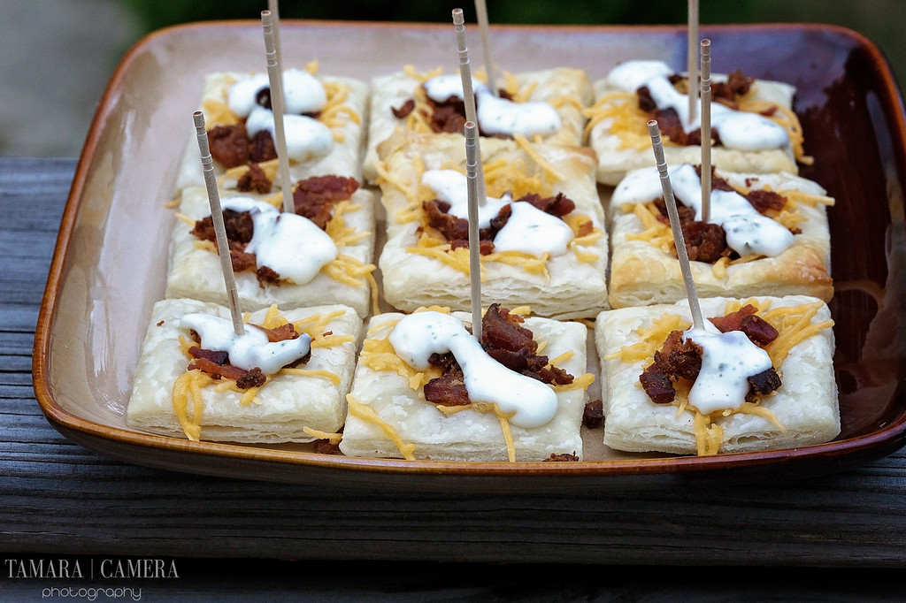Bacon Cheddar Ranch Puff Pastry Bites