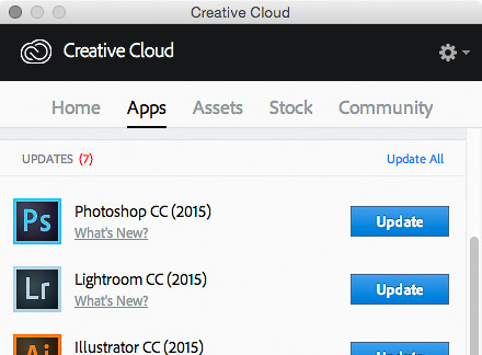 Lightroom CC 2015 and Camera Raw 9.1 updates in Adobe Creative Cloud desktop app