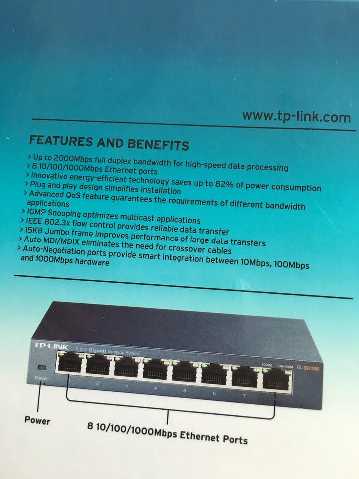 TP-Link 8 port gigabit switch TL-SG108