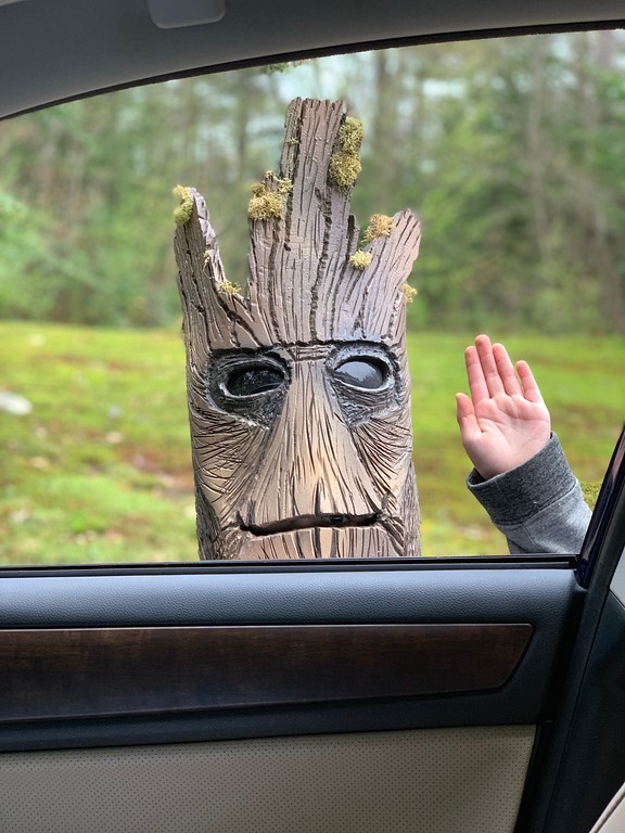 kid in groot costume