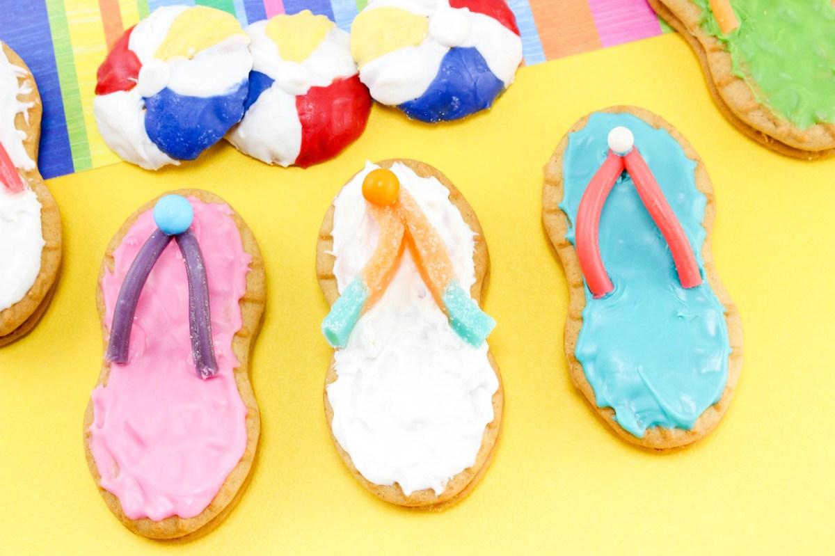 Beach Balls & Flip Flop Cookies
