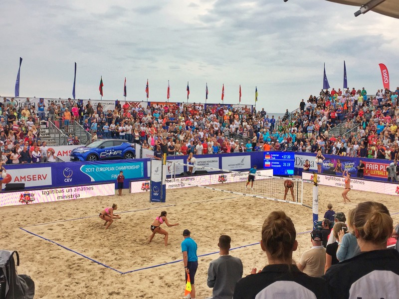 Beach volleyball tournament in Latvia