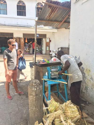 Trip to Zanzibar - sugar cane juice