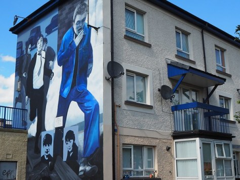 Memories of Bloody Sunday on the walls of peoples homes.