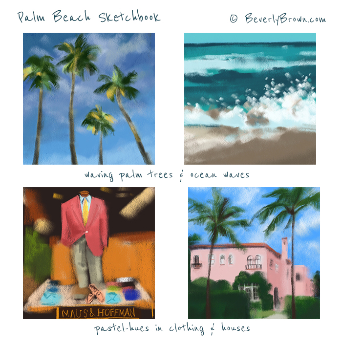Palm Beach Colors Sketchbook by Beverly Brown | www.beverlybrown.com