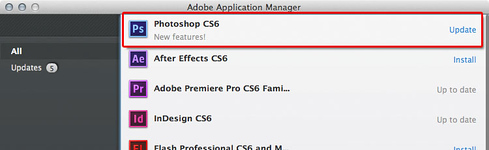 Adobe Application Manager ready to update applications