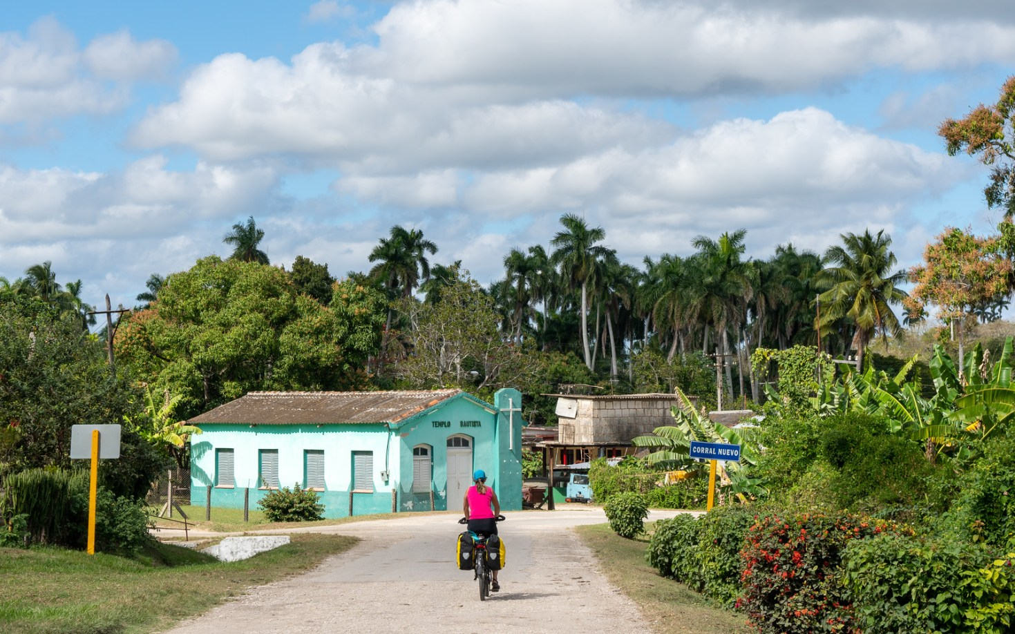 Cycling through a tropical landscape