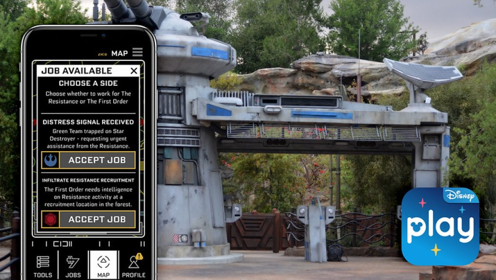 star wars rise of the resistance data pad play disney parks
