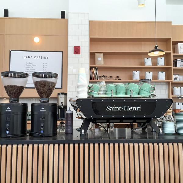 Grabbing a coffee at Café Saint-Henri mirco-torréfacteur in Québec City
