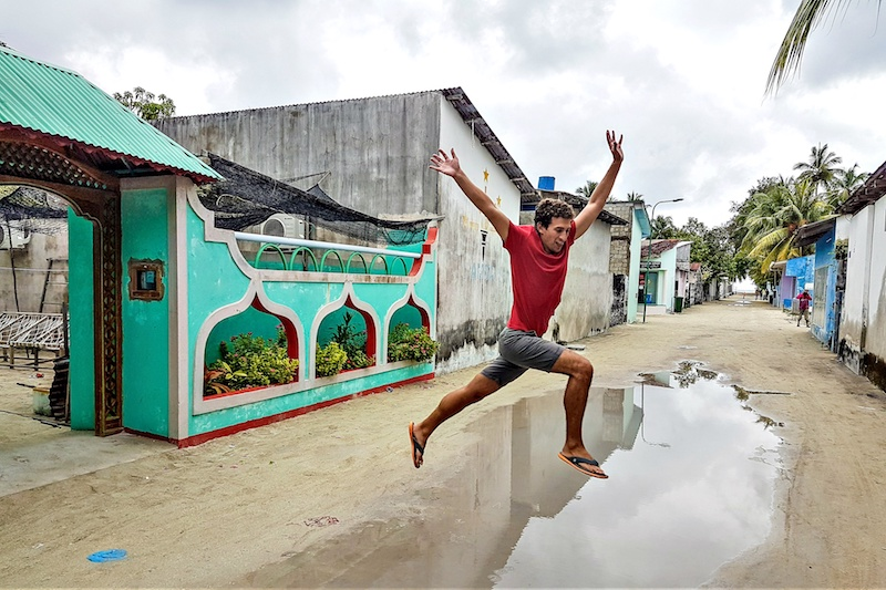 The island of Bali, Indonesia - jump