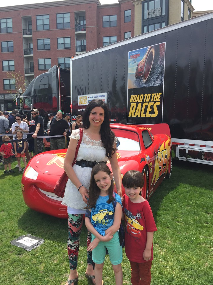 We attended the Cars 3 event in #Boston over the weekend, and met Lightning McQueen, Jackson Storm, and Cruz Ramirez. We can't wait for the #movie premiere!