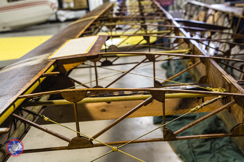 A Sailplane Wing Undergoing Restoration in the National Soaring Museum Workshop (©simon@myeclecticimages.com)