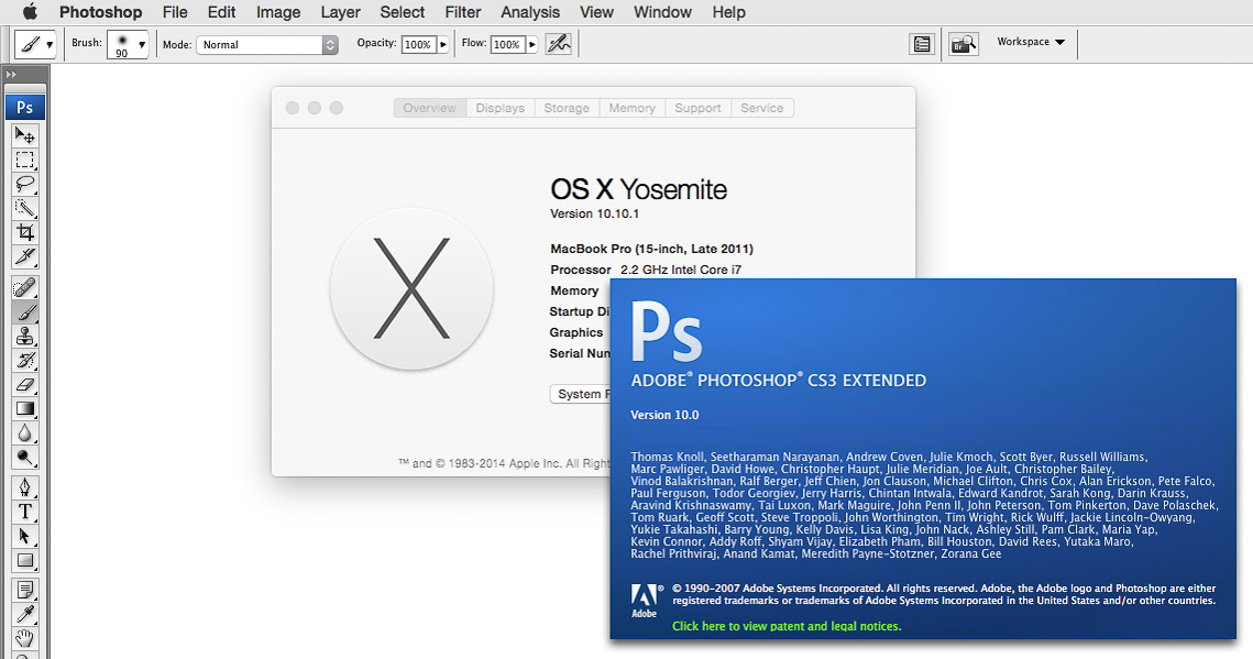 OS X 10 10 Yosemite: Will Adobe software work? | conrad